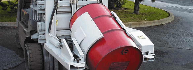 Forklift Attachment - Chemical Industry - Barrel Dumper