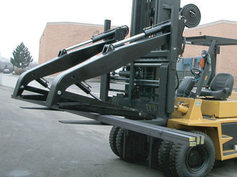 Forklift Attachment - concrete, brick, block, construction.